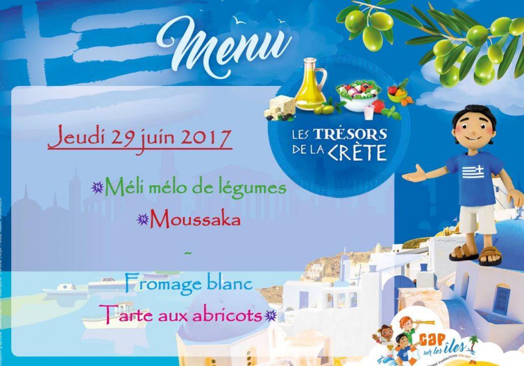 menu crete