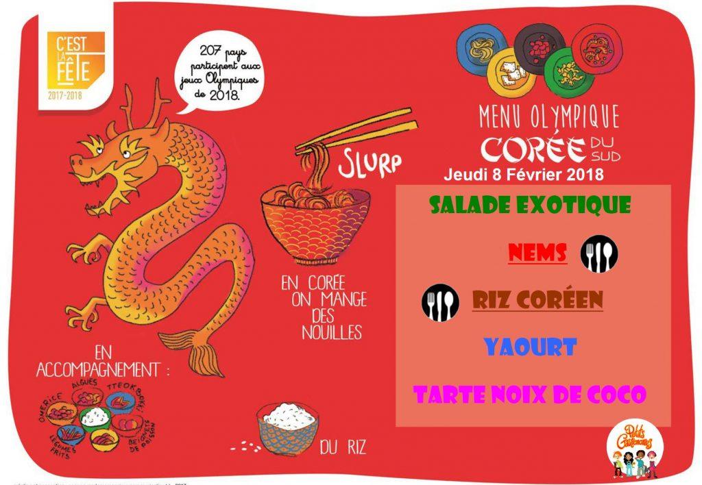 menu coree